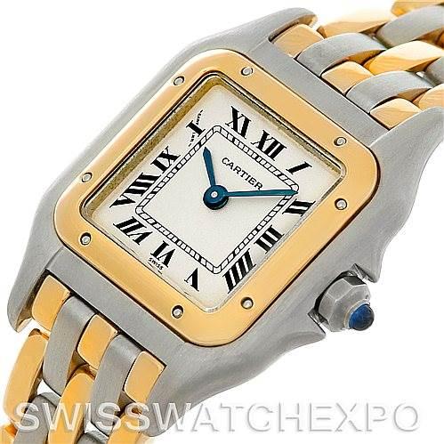 5389 Cartier Panthere Ladies Steel 18K Yellow Gold Watch W25029B6 SwissWatchExpo