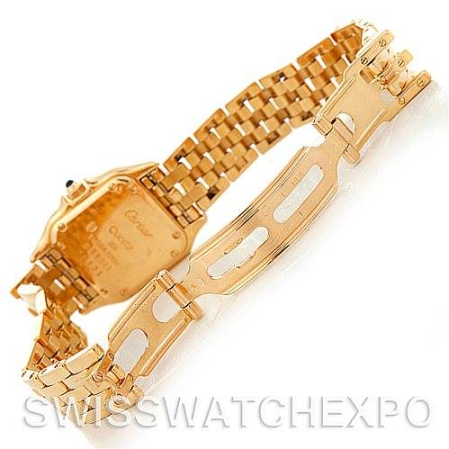 5320 Cartier Panthere Ladies 18k Yellow Gold Watch W25022B9 SwissWatchExpo