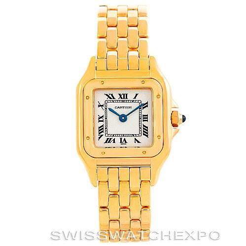 6268 Cartier Panthere Ladies 18k Yellow Gold Watch W25022B9 SwissWatchExpo
