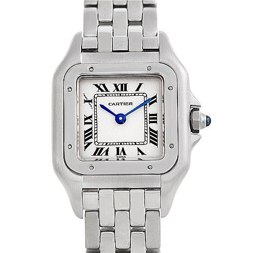 6291 Cartier Panthere Ladies Small Stainless Steel Watch W25033P5 SwissWatchExpo