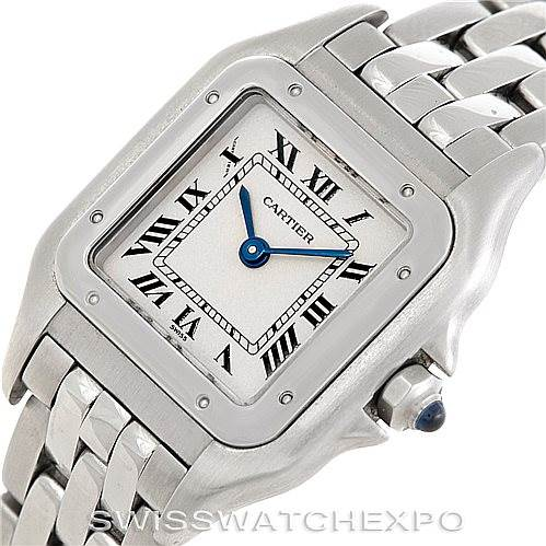 6354 Cartier Panthere Ladies Small Stainless Steel Watch W25033P5 SwissWatchExpo