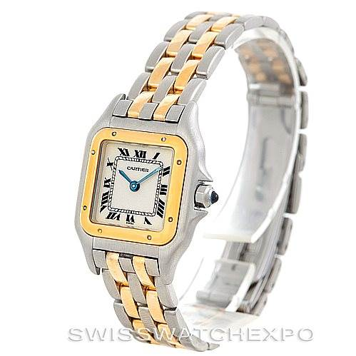 6203 Cartier Panthere Ladies Steel 18K Yellow Gold Watch W25029B6 SwissWatchExpo