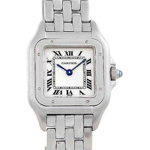6492 Cartier Panthere Ladies Small Stainless Steel Watch W25033P5 SwissWatchExpo