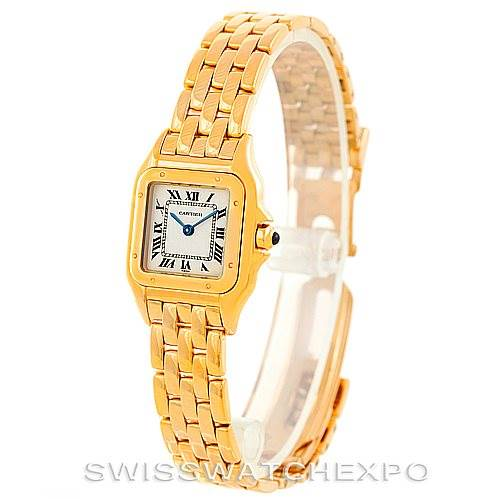 6806 Cartier Panthere Ladies 18k Yellow Gold Watch W25022B9 SwissWatchExpo