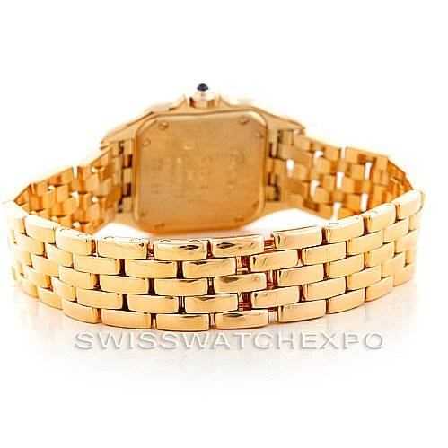 6805 Cartier Panthere Ladies 18k Yellow Gold Watch W25022B9 SwissWatchExpo