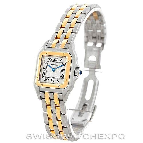 6875 Cartier Panthere Ladies Steel 18K Yellow Gold Watch W25029B6 SwissWatchExpo