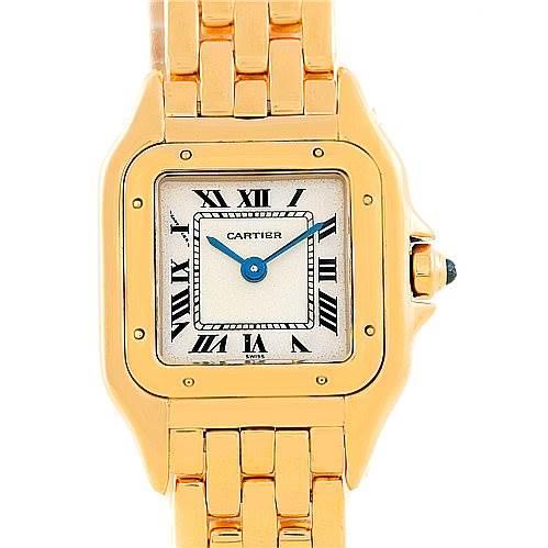 6889 Cartier Panthere Ladies 18k Yellow Gold Watch W25022B9 SwissWatchExpo