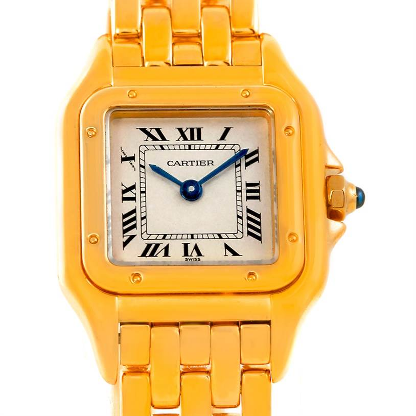 5221 Cartier Panthere Ladies 18k Yellow Gold Watch W25022B9 SwissWatchExpo