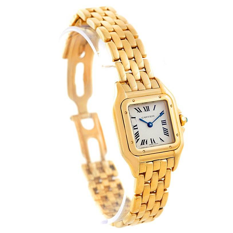 7187 Cartier Panthere Ladies 18k Yellow Gold Watch W25022B9 SwissWatchExpo