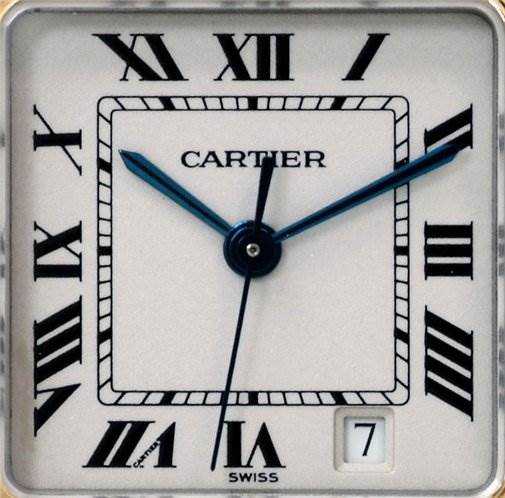 1312WC Cartier Panthere Steel 18kt Yellow Gold Three Row Watch SwissWatchExpo