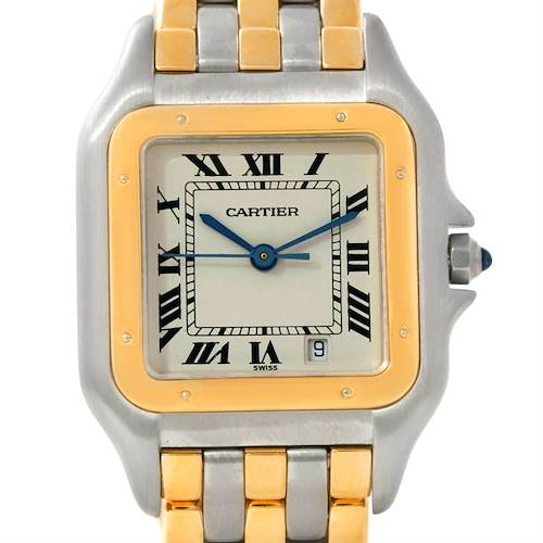 Photo of Cartier Panthere Steel 18kt Yellow Gold Three Row Watch