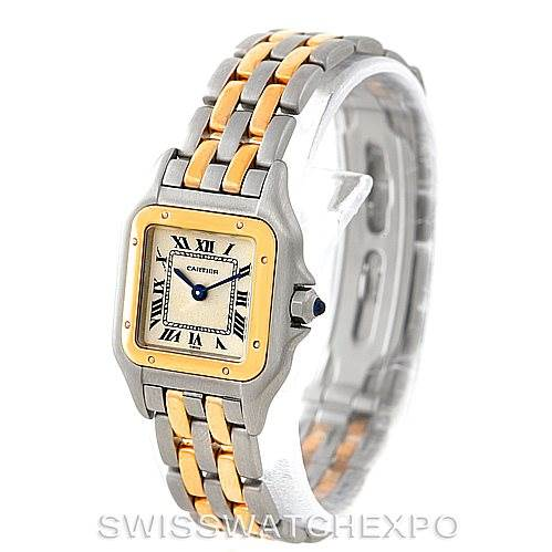 6829  Cartier Panthere Ladies Steel 18K Yellow Gold Watch W25029B6 SwissWatchExpo