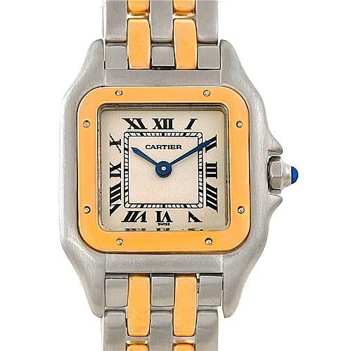 6511 Cartier Panthere Ladies Steel 18K Yellow Gold Watch W25029B6 SwissWatchExpo