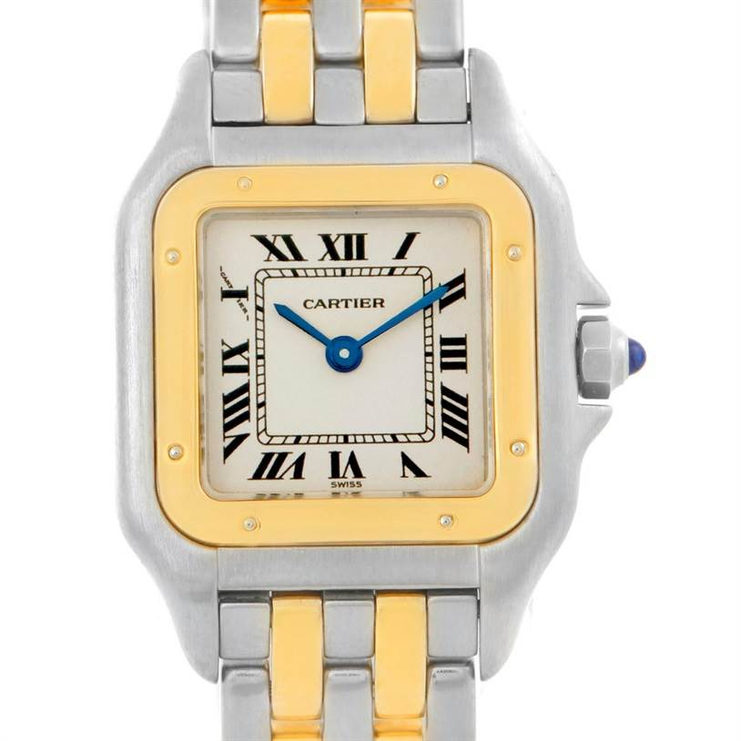 7406 Cartier Panthere Ladies Steel 18K Yellow Gold Watch W25029B6 SwissWatchExpo