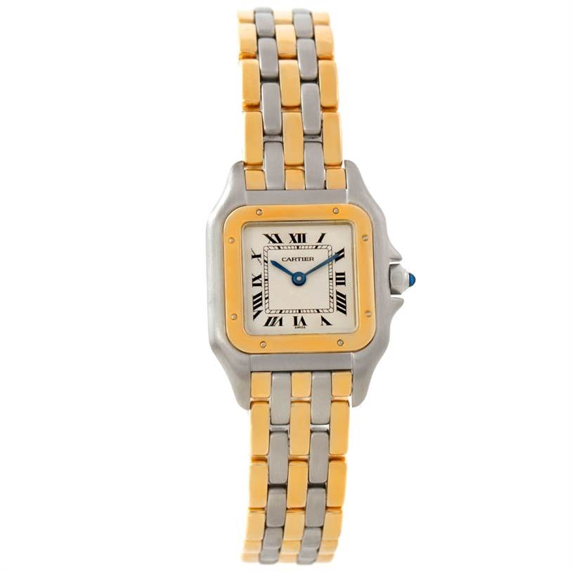 7673 Cartier Panthere Ladies Steel 18K Yellow Gold Watch W25029B6 SwissWatchExpo