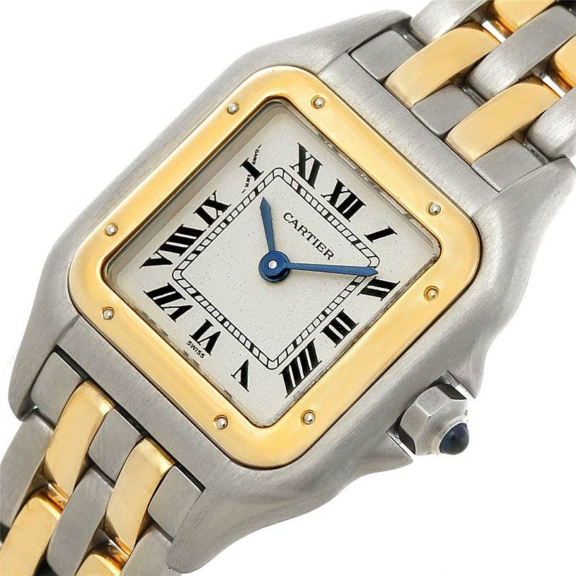 8315X Cartier Panthere Ladies Steel 18K Yellow Gold Watch W25029B6 SwissWatchExpo