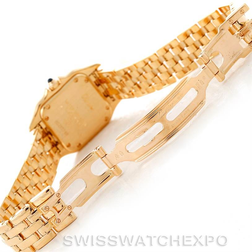 8313X Cartier Panthere Ladies 18k Yellow Gold Watch W25022B9 SwissWatchExpo