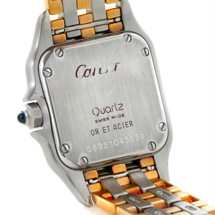 8558 Cartier Panthere Ladies Steel 18K Yellow Gold Watch W25029B6 SwissWatchExpo