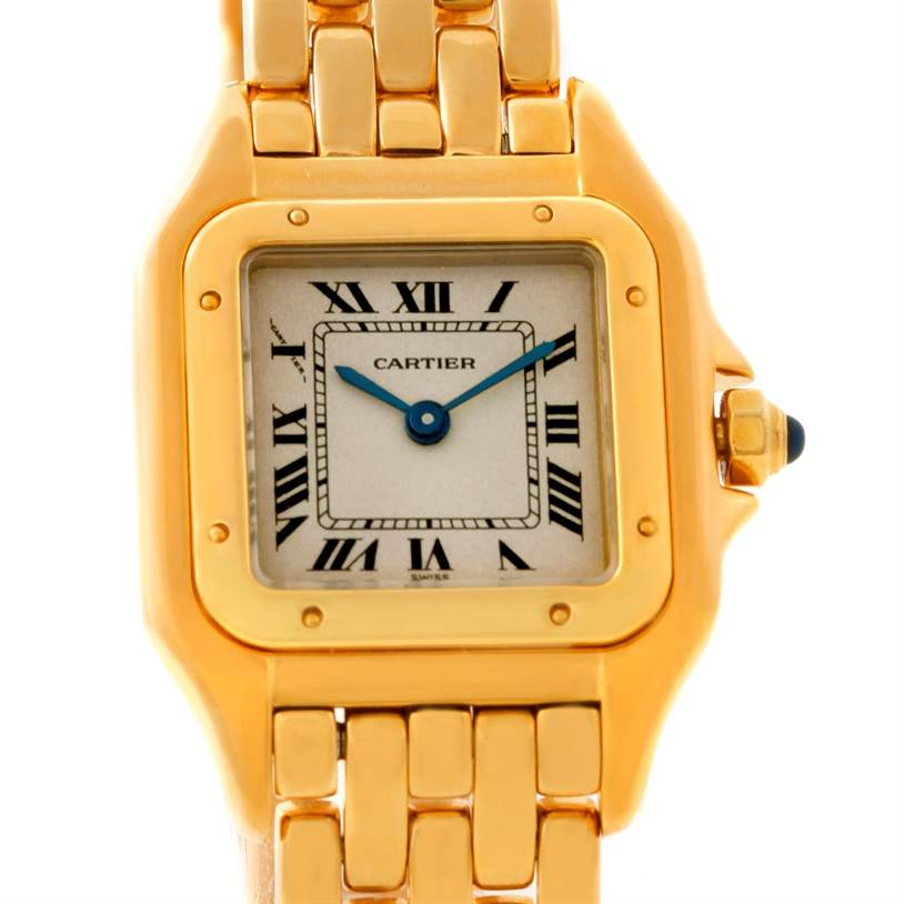 7790 Cartier Panthere Ladies 18k Yellow Gold Watch W25022B9 SwissWatchExpo