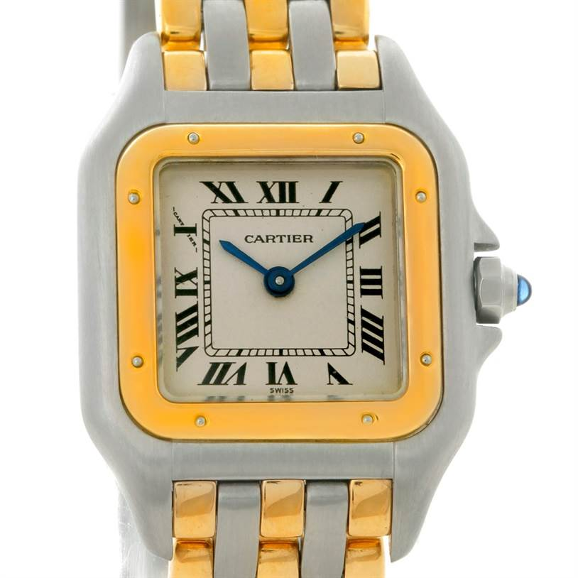 8769 Cartier Panthere Ladies Steel 18K Yellow Gold Watch W25029B6 SwissWatchExpo