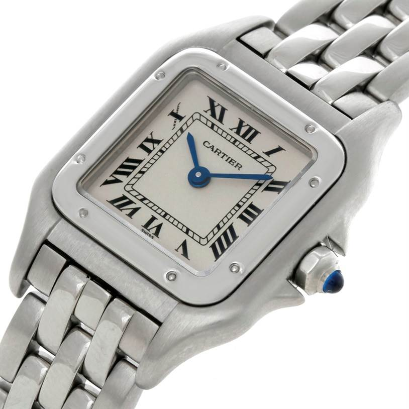6123 Cartier Panthere Ladies Small Stainless Steel Watch W25033P5 SwissWatchExpo