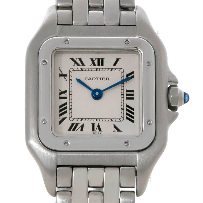 7445 Cartier Panthere Ladies Small Stainless Steel Watch W25033P5 SwissWatchExpo