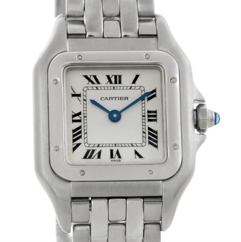 7597 Cartier Panthere Ladies Small Stainless Steel Watch W25033P5 SwissWatchExpo