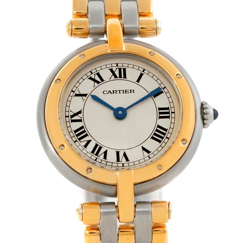 9349 Cartier Panthere VLC Steel 18K Yellow Gold Three Row Ladies Watch SwissWatchExpo