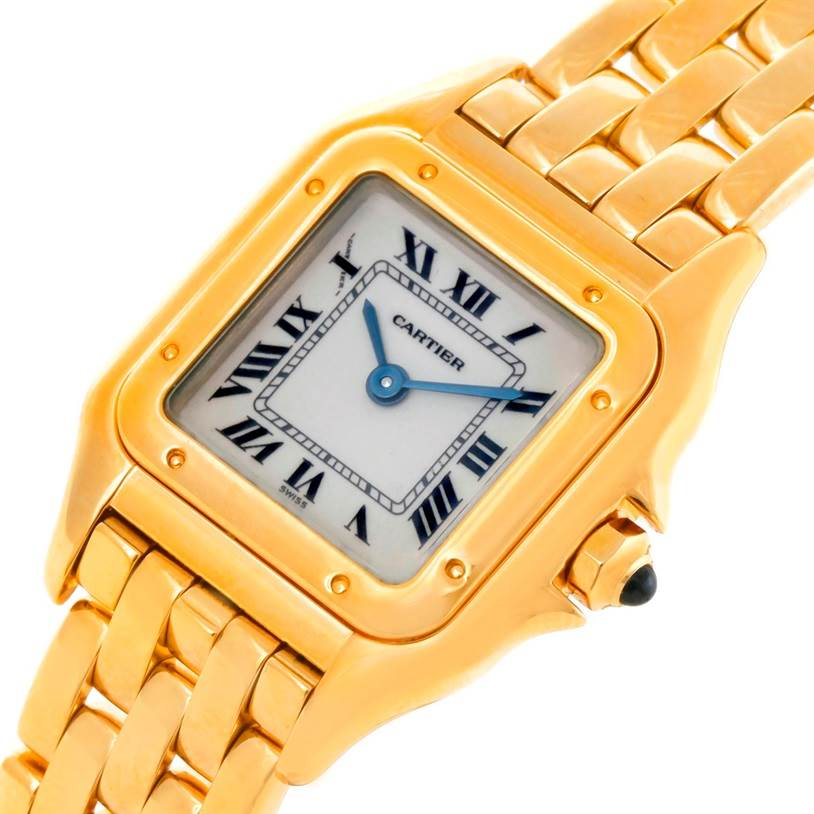 8775 Cartier Panthere Small 18k Yellow Gold Ladies Watch W25022B9 SwissWatchExpo