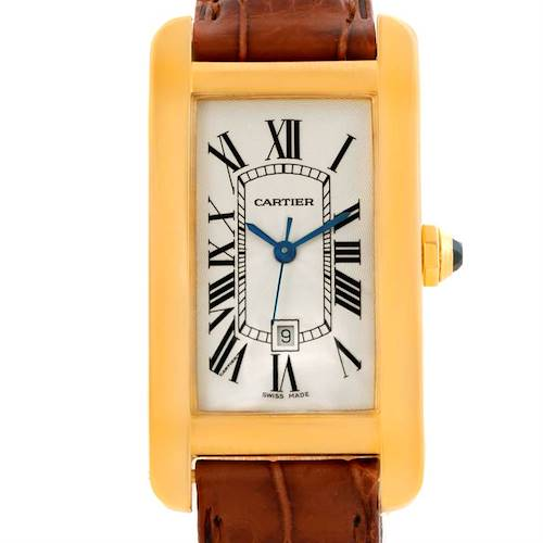 Photo of Cartier Tank Americaine Midsize Yellow Gold Automatic Watch W2603556