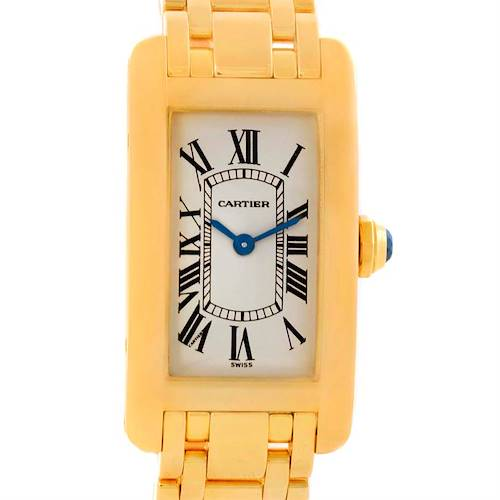 Photo of Cartier Tank Americaine 18K Yellow Gold Womens Watch W26015K2