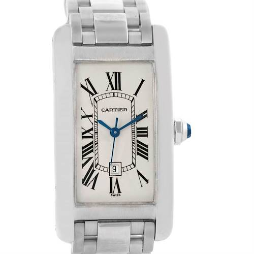 Photo of Cartier Tank Americaine Midsize White Gold Automatic Watch W26036L1