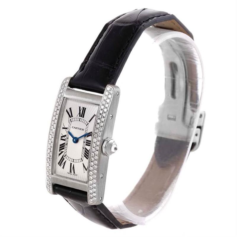 Cartier Tank Americaine 18K White Gold Diamond Watch WB701851 SwissWatchExpo