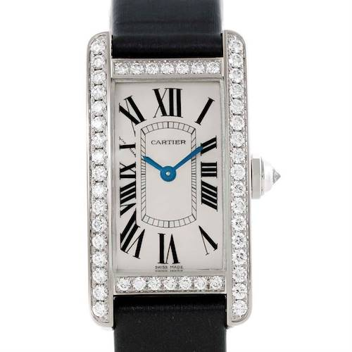 Photo of Cartier Tank Americaine 18K White Gold Diamond Watch WB707331