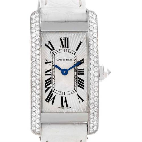 Photo of Cartier Tank Americaine 18K White Gold Diamond Watch WB701851