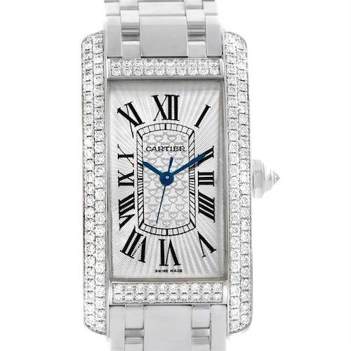 Photo of Cartier Tank Americaine 18K White Gold Diamond Limited Watch WB710001