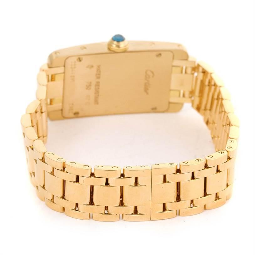 12627 Cartier Tank Americaine 18K Yellow Gold Women's Watch W26015K2 SwissWatchExpo