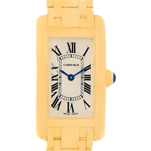 Photo of Cartier Tank Americaine 18K Yellow Gold Women's Watch W26015K2