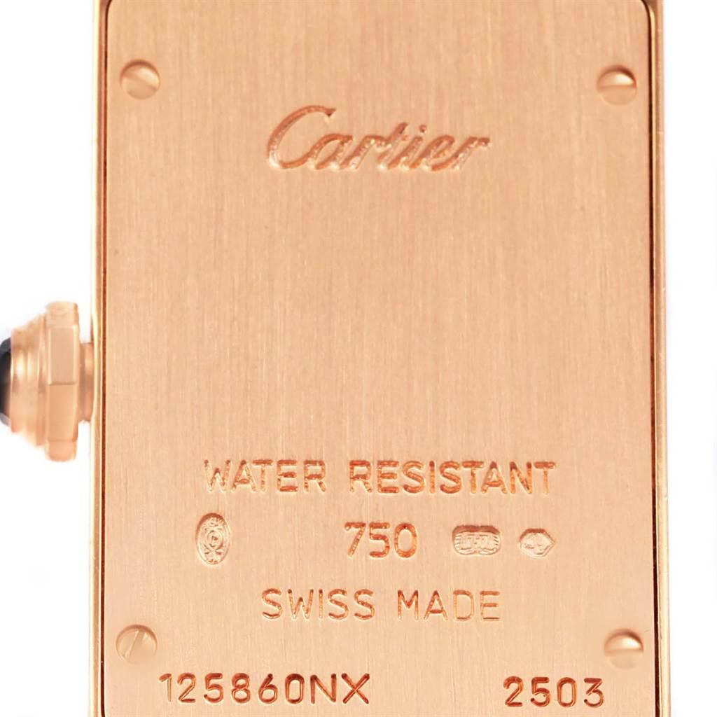14742 Cartier Tank Americaine 18K Rose Gold Ladies Watch W2607456 SwissWatchExpo