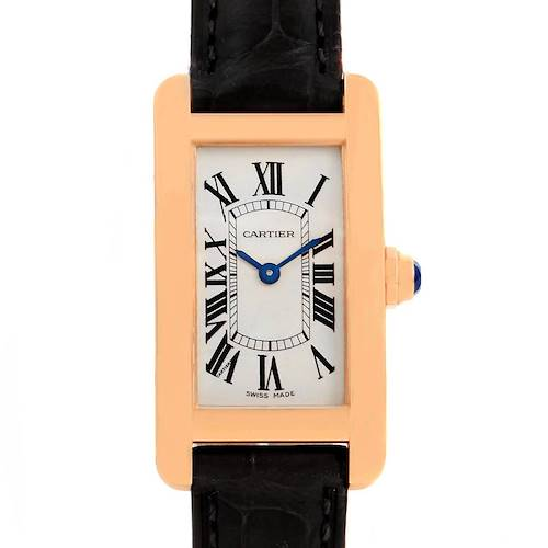 Photo of Cartier Tank Americaine 18K Rose Gold Ladies Watch W2607456