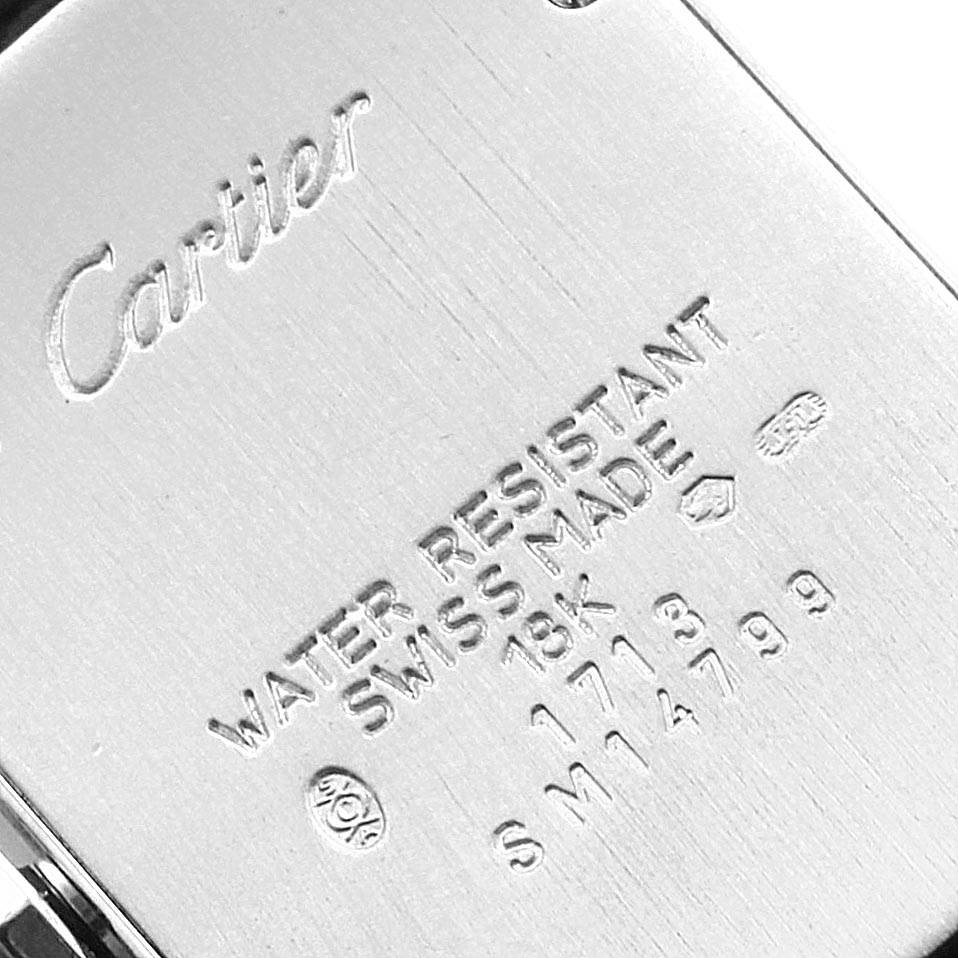 22240 Cartier Tank Americaine 18K White Gold Ladies Watch W2601556 SwissWatchExpo