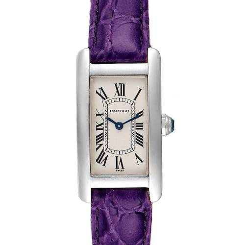 Photo of Cartier Tank Americaine 18K White Gold Ladies Watch W2601956