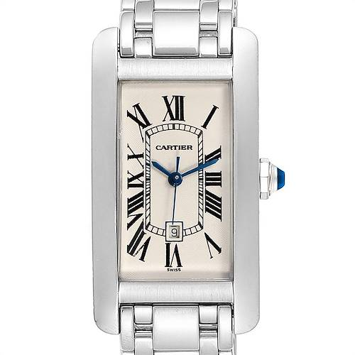 Photo of Cartier Tank Americaine Midsize White Gold Automatic Ladies Watch 1726