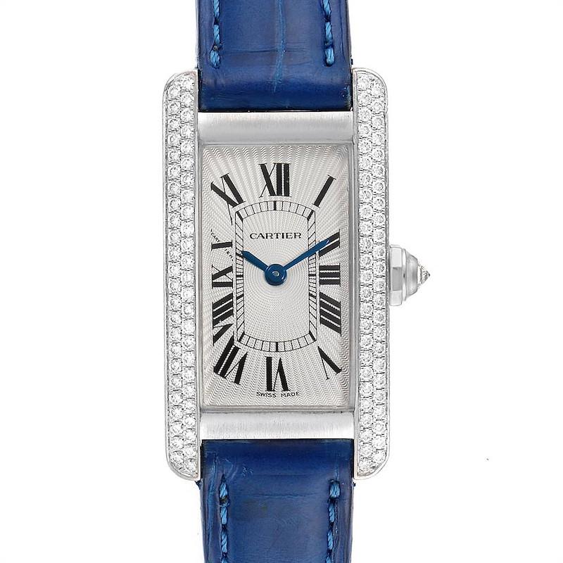 Cartier Tank Americaine White Gold Diamond Ladies Watch WB701851 SwissWatchExpo