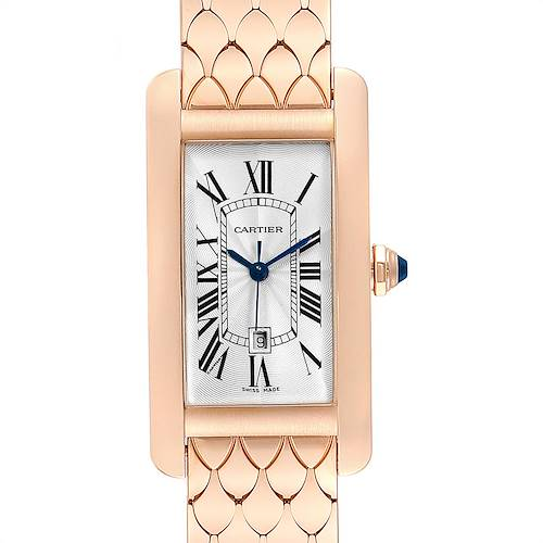 Photo of Cartier Tank Americaine Midsize 18K Rose Gold Ladies Watch W2620032