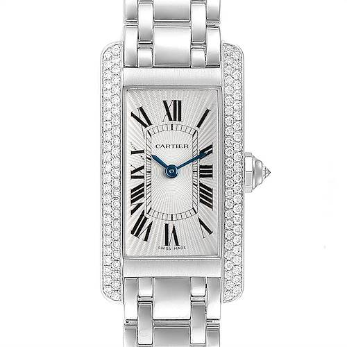 Photo of Cartier Tank Americaine White Gold Diamond Ladies Watch WB7018L1