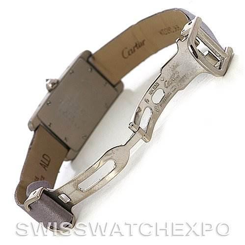 2707 Cartier Tank Americaine 18K Gold Two-row Diamond Watch SwissWatchExpo