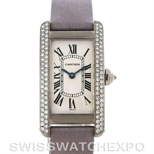 Photo of Cartier Tank Americaine 18K Gold Two-row Diamond Watch