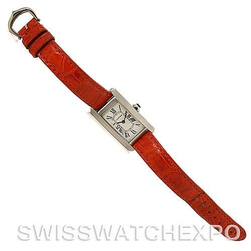 2912 Cartier Tank Americaine 18K White Gold Watch W2601956 SwissWatchExpo