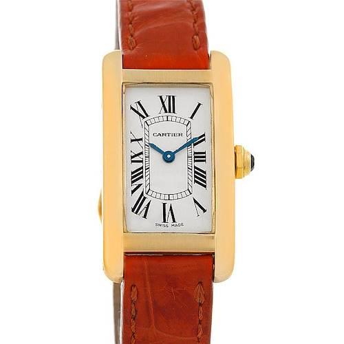 Photo of Cartier Tank Americaine 18K Yellow Gold Watch W2601556